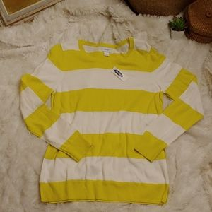 NWT Old Navy Yellow Stripey Sweater